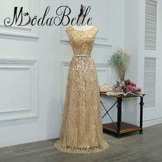 modabelle Gold Sequin Bridesmaid Dresses Vestidos De Madrinhas De Casamento Long Dresses For Wedding Party Brautjungfernkleid #Affiliate