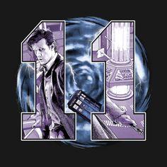 A Matt Smith Doctor Who t-shirt by BadEye. Doctor Who Poster, Doctor Who Fan Art, Matt Smith Doctor Who, Doctor Who T Shirts, Day Of The Shirt, Hello Sweetie, Eleventh Doctor, 12 Doctor, Dr Who