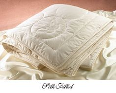 Natural Silk Filled Comforters by Down Town Company. Save 25 Off!. $279.00. Natural Silk Filled Comforter. Great for Allergy Sufferers. Silk Filled Comforter. All Year Round Use. Great Alternative To Goose Filled. Silk-filled Comforters are warmer than cotton-filled Comforters.Silk Filled Comforters are a fabulous alternative to those allergic to goose down. SILK IS THE LEAST ALLERGENIC OF THE NATURAL FIBERS   Our all natural silk filled COMFORTER and MATTRESS PAD ticks are produ...