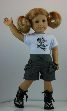 Skull /& Crossbones Knee-Length Shorts for 18 Inch Dolls