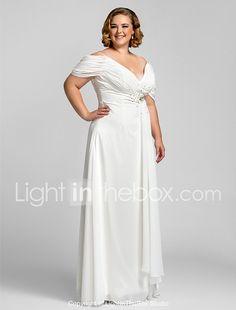 Vaina / columna correas espaguetis palabra de longitud vestido de fiesta de gasa con rebordear por ts couture ® 2018 - $89.99