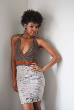 MADE TO ORDER   Lady of soul crochet halter dress by ZZAG on Etsy, $125.00
