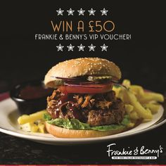 We've teamed up with our mates Frankie and Benny to offer you the chance to win a tasty meal for two.. (Or one if you're feeling hungry!)