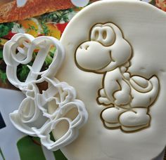 Super Mario Yoshi Full Body Cookie Cutter / Made From Biodegradable Material / Brand New