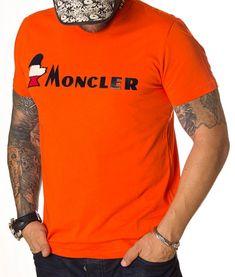 Moncler Tricou Bird Logo - Portocaliu   Tricouri cu guler rotund   Tricouri   Brande Bird Logos, Moncler, Model, Mens Tops, T Shirt, Fashion, Supreme T Shirt, Moda, Tee Shirt