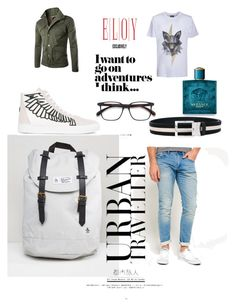 """""""Urban Traveler"""" by eloy-exclisively on Polyvore featuring Versace, Original Penguin, Kloters Milano, Superdry, Marcelo Burlon, Bally, men's fashion and menswear"""