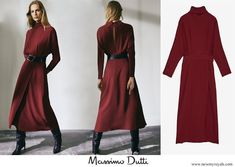 Abito con schiena scoperta in edizione limitata Massimo Dutti Queen Letizia, Queen Maxima, Princess Of Spain, Open Back Dresses, Royal Queen, Bridesmaid Dresses, Wedding Dresses, Cashmere Coat, Royals