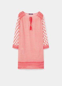 Vestito cotone stampato