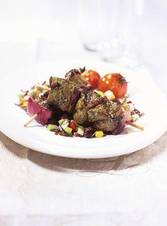 Ricardo's Recipe : Ostrich Kebabs with Chimichurri Sauce Meat Recipes, Appetizer Recipes, Appetizers, Chimichurri, Skewers, Kebabs, Ricardo Recipe, Charles Perrault, Valeur Nutritive