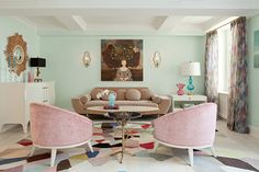 Love the pale pink with light mint.