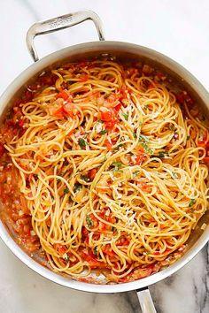 Pastas Recipes, Italian Pasta Recipes, Best Pasta Recipes, Vegetarian Recipes, Dinner Recipes, Cooking Recipes, Delicious Recipes, Simple Recipes, Cooking Time