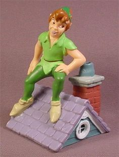 Disney Peter Pan Standing On A Roof PVC Figure, Disney Store Lil Classics Series, 3 3/8 Inches
