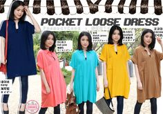 Pocket Loose Dress  Price : Rp 78.000 Brand : Forever 8 Code : F2814 Material : katun rayon Size : allsize, fit S - XL