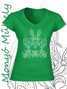 Tiszavirág női póló - zöld