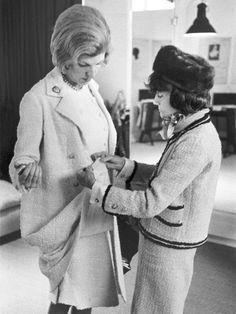 Coco Chanel & Mme Pompidou #CocoChanel Visit espritdegabrielle.com | L'héritage de Coco Chanel #espritdegabrielle