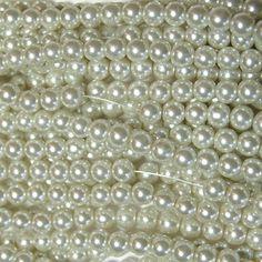 Witte parelkralen