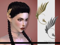 The Sims Resource: Fall Earcuff by LeahLilith • Sims 4 Downloads
