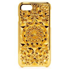 Felony Case Kaleidoscope iPhone 7 Case ($40) ❤ liked on Polyvore featuring accessories, tech accessories, gold, iphone cases, gold iphone case, print iphone case, iphone hard case and iphone cover case