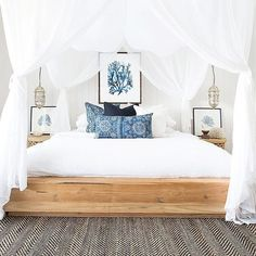 Dreamy! #bedroom #coastalstyle #beachhouse via @pinterest