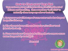 How to clean your Yoga Mat! #yoga#health#fitness#cleaning#cleaningtips#healthy#allnatural#organic