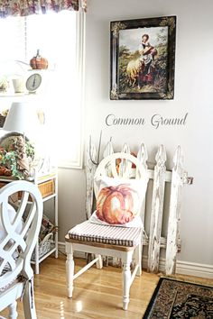 common ground : Kitchen Sitting Area Dressed for Fall