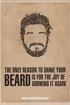 Beard art // 31 Holiday Gift Ideas For The Lumbersexual In Your Life
