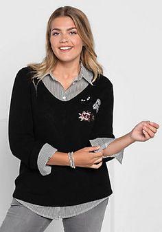 sheeGOTit V-Ausschnitt-Pullover