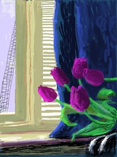 David Hockney ipad drawings for free download