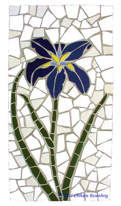 Blue Iris Mosaic