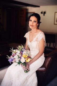 Real wedding: Bespoke champagne lace slim fishtail wedding dress by Rachel Lamb Design Designer Wedding Dresses, Bridal Dresses, Wedding Gowns, British Wedding, Bridal Dress Design, Wedding Book, Dressmaking, Wedding Styles, Real Weddings