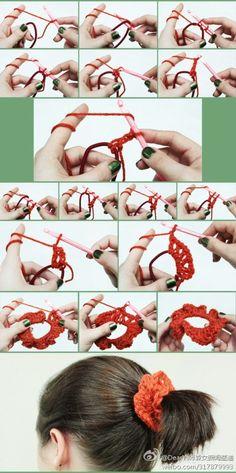 # Sen lado feminino # fazer uma faixa de cabelo de crochê para fazer ele está lindo!  Você aprende isso?