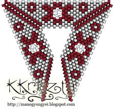 'Mano' gyöngyékszer tervező kézműves ékszerei: Virágos peyote szett swarival - minta
