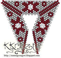 'Mano' gyöngyékszer tervező kézműves ékszerei: peyote minta/pattern