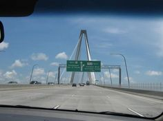"""It's a long, steep climb to the apex of the Arthur Ravenel Jr. Bridge, but just keep following the signs!"""