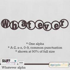 April BAK: Whatever alpha by Shel Belle Scraps