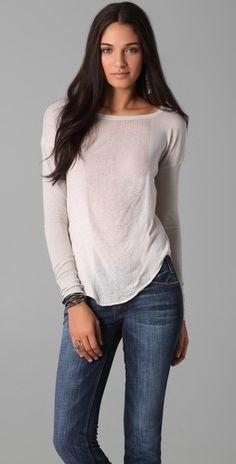 Raquel Allegra Basic Long Sleeve Tee - StyleSays