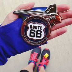 Appreciate the  #Favoritemedal status #rt66run : 2013 Route 66 Half Marathon medal.  My first half  #favoritemedal  #sparklephotochallenge  #teamsparkle  @sparkleathletic  #rt66run : @jessvivion #medalmonday wait until you see this year's medal.