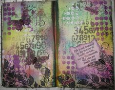 inkypinkycraft: journal page no 2, life is made of moments..