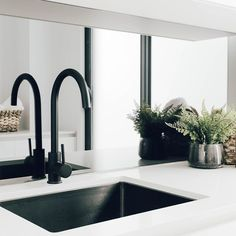 Black tapware shower taps kitchen mixers New Zealand, ABI is New Zealand's most affordable superior quality coloured tapware supplier, buy online or in store ! Luz Natural, Natural Light, Mirror Splashback, Laundry Design, Laundry Decor, Laundry Room, Interior Decorating, Interior Design, Home Reno