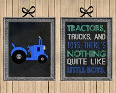Tractors Trucks and Toys Nursery Wall Art // Set by MsThirdGrade, $6.00