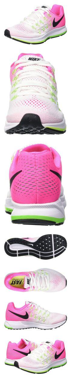 96aae7e5 $256.2 - Nike Women's Wmns Air Zoom Pegasus 33, WHITE/BLACK-PINK  BLAST-ELECTRIC GREEN #shoes #nike #2016