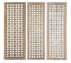 astic set of three highly decorative wood panels circa early 1950s - Decorative Wood Panels