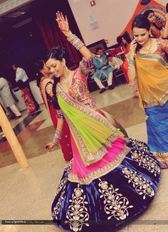 Pink blue green maybe for Mehndi or sangeet?