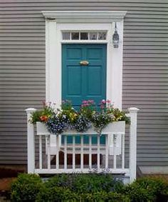 Turquoise Door Looks Like The Peters Live Here Pink Glorious Gray