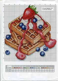 Cupcake Cross Stitch, Kawaii Cross Stitch, Cross Stitch Fruit, Cross Stitch Kitchen, Cross Stitch Books, Cross Stitch Love, Cross Stitch Needles, Cross Stitch Charts, Cross Stitch Designs
