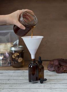 How to make a double-extract mushroom extraction from Mountain Rose Herbs.