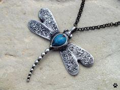 Vážka - náhrdelník s chryzokolem
