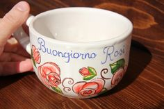 Mug Mugs Custom Personalized Wedding mugs Mug gift Couples mugs Handmade Coffee Pottery Majolica Ceramic Ceramics Italy italian Custom cup  --------------------------------------------------------------  Do you want a cappuccino cup or a mug for your coffee, personalized?  Here to you an example of personalized breakfast cups, breakfast cups with name, mugs Good Morning.  --------------------------------------------------------------  This mug is the perfect gift: a unique work of art and…
