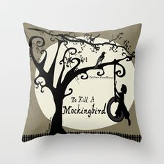 To Kill a Mockingbird throw pillow