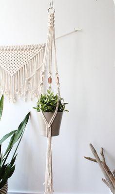 Macrame Plant Hanger Hanging Planter by freefille on Etsy